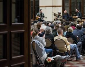 Hundreds of jazz fans pack Ogden's Union Station to hear saxophone legend Joe McQueen perform, Feb. 2016. Photo: Gephardt Daily