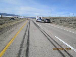 A Salem woman died after being stuck by a semi on I-15 Wednesday afternoon. Photo Courtesy: UHP