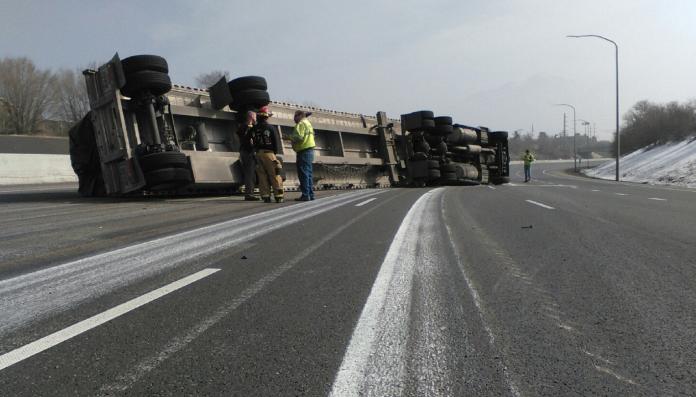 I-215 Tractor-Trailer Crash