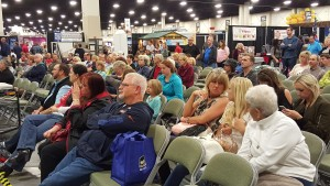 A crowd gathered to hear advice from HGTV personalities Peyton and Chris Lambton at the Salt Lake Tribune Home & Garden Festival. Photo: Gephardt Daily