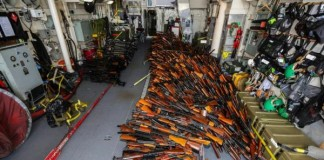 Navy Seizes 2,000 Weapons