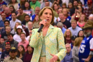 Former GOP presidential contender Carly Fiorina speaks on behalf Sen Ted Cruz during a campaign rally in Provo, Utah Saturday, March 19, 2016. Photo: Gephardt Daily.