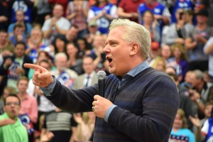 Conservative talk show host Glenn Beck at A Provo, Utah campaugn stop encourages followers of the LDS faith to rise and defend the U.S. Constitution by voting for GOP hopeful Sen Ted Cruz. Photo: Gephardt Daily