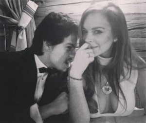 Lindsay Lohan and boyfriend Egor Tarabasov on Feb. 22. Photo by Lindsay Lohan/Instagram