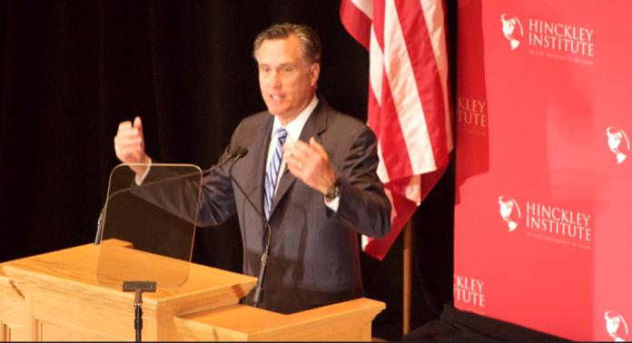 Mitt Romney podium