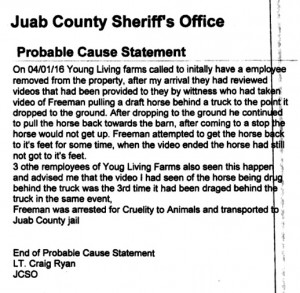 Juab County Sheriff probable cause