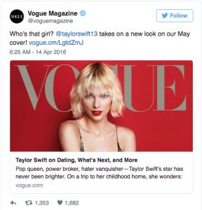 Photo Courtesy Vogue Magazine / Twitter