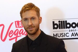 DJ Calvin Harris poses backstage with the award for Top Dance/Electronic Artist during the Billboard Music Awards in Las Vegas on May 17, 2015. File Photo by Jim Ruymen/UPI | License Photo