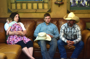 Bundy family members MaryLynn Bundy (Dave Bundy's wife), Arden Bundy, (Cliven Bundy's son) and Clancy Cox (Cliven's son-in-law), talk about family hardships in the wake of their loved ones' arrests. Photo: Gephardt Daily