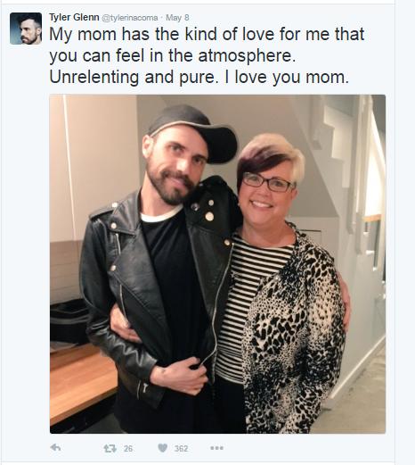 Tyler Glenn and mom