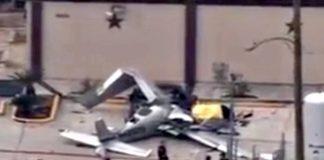 small plane crash Houston