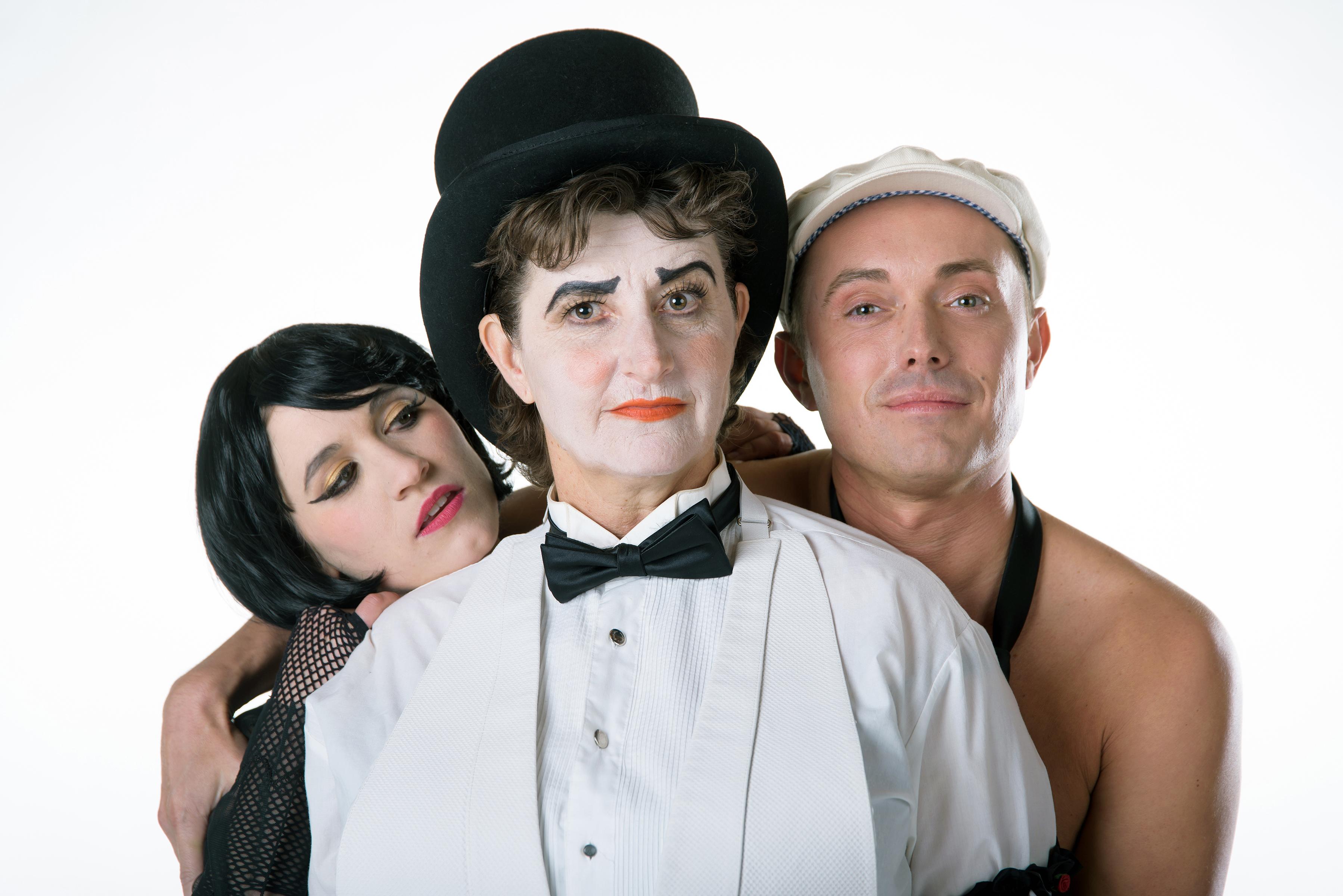 "Anne Louise Brings, Teresa Sanderson and Johnny Hebda star in Utah Rep's ""Cabaret."" Photo: Alex Weisman – IceWolf Photography"