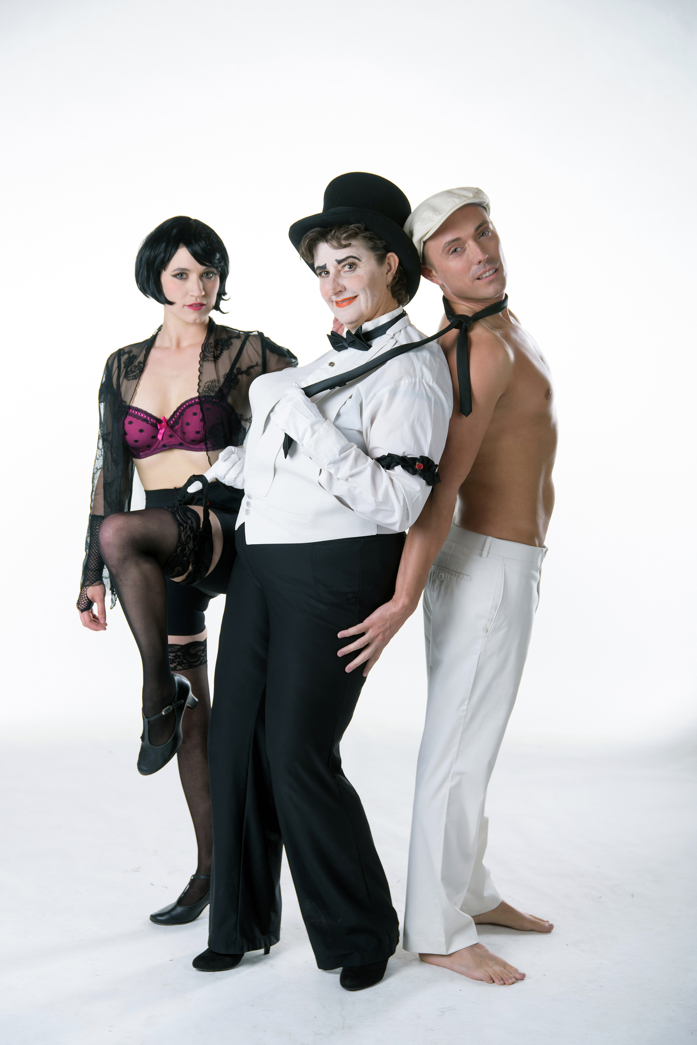 "Anne Louise Brings, Teresa Sanderson, Johnny Hebda starr in Utah Rep's ""Cabaret."" Photo: Alex Weisman – IceWolf Photography"