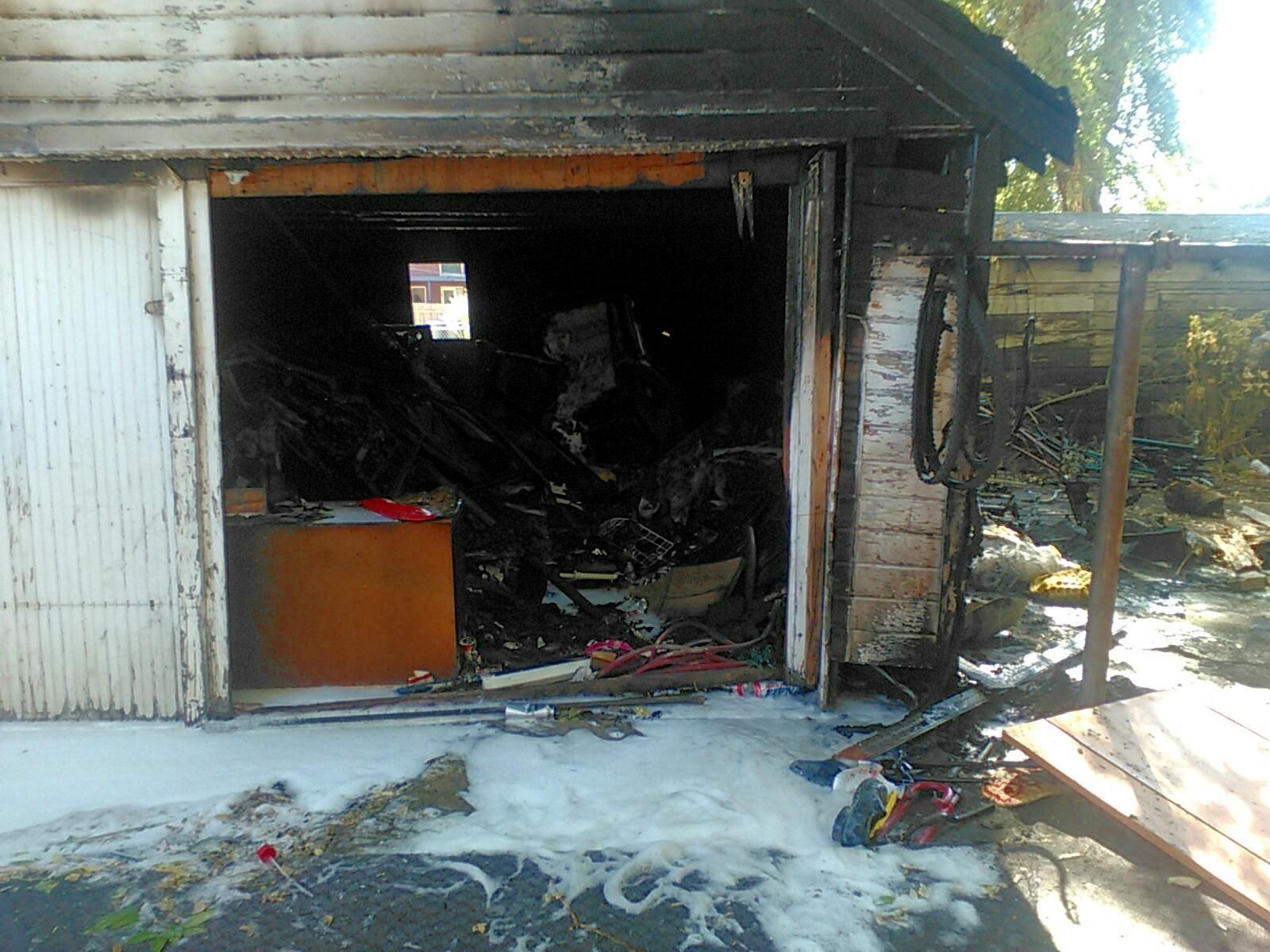 Slc fire battles blaze in detached garage gephardt daily for Detached garage utah