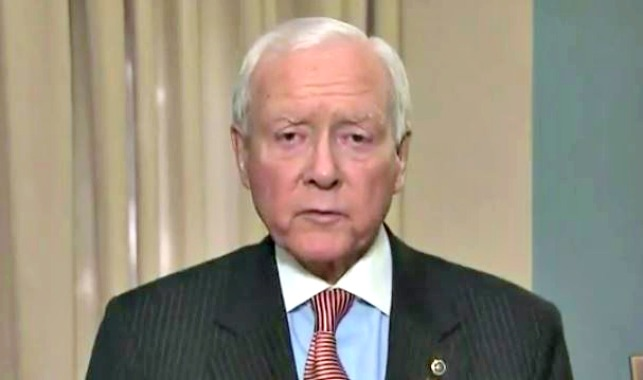 Sen. Orrin Hatch acting as a designated survivor during inauguration
