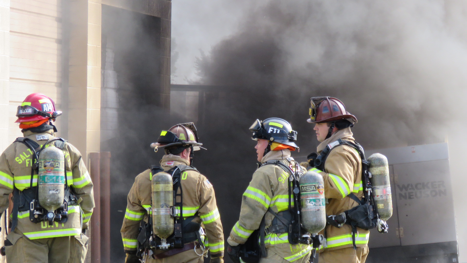 West Valley City business burns after generator catches fire