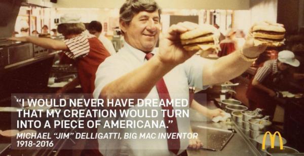 Inventor of the Big Mac dies at 98
