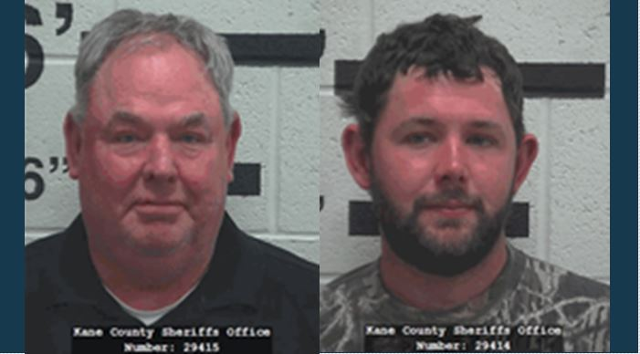 Gordon Wesley Marble, 58, and John Wesley Marble, 29, of West Point. Photos: Kane County