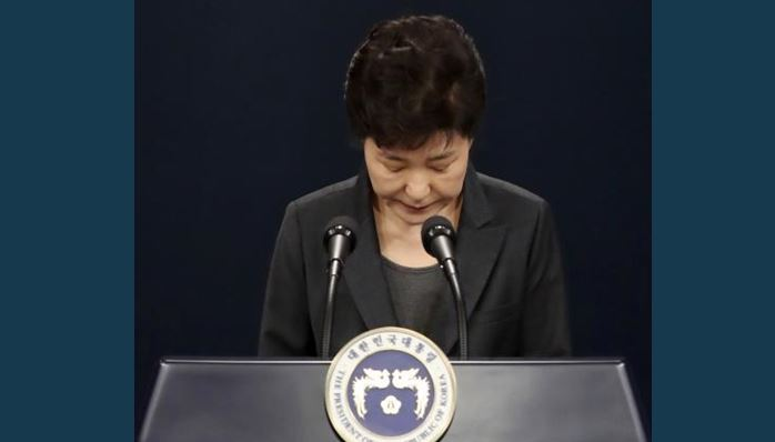 Image result for  South Korean President, Park Guen-hye Impeached
