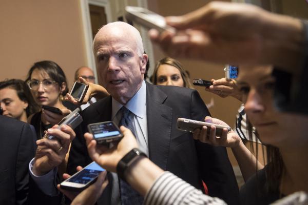 John McCain returns to the Senate to blast 'bombastic loudmouths'