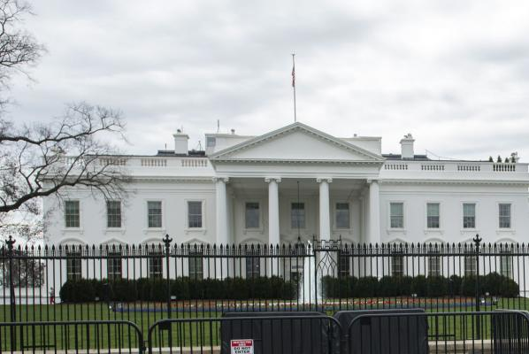Individual attempts to jump security barrier near White House