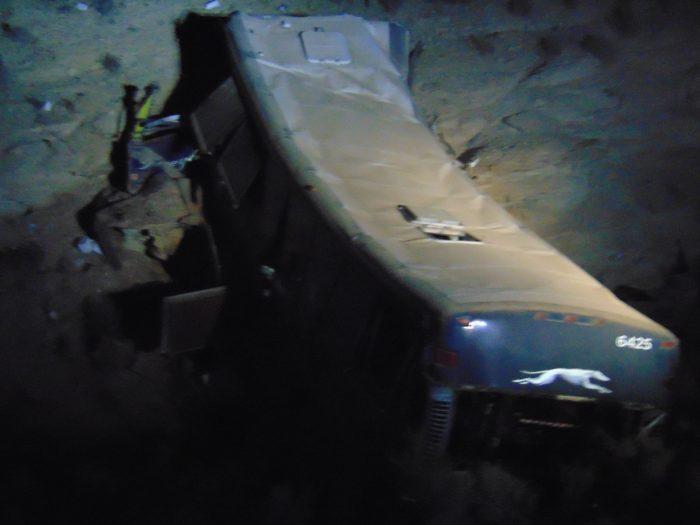 13-year-old girl dies in Greyhound bus crash, 12 injured