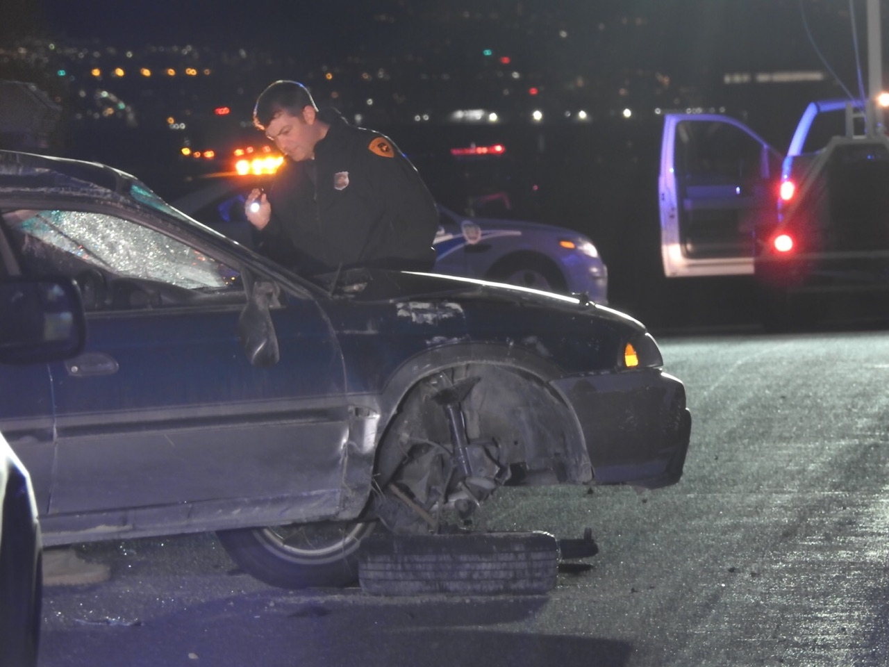 Update: Police ID man killed in single-car rollover near Saltair ...