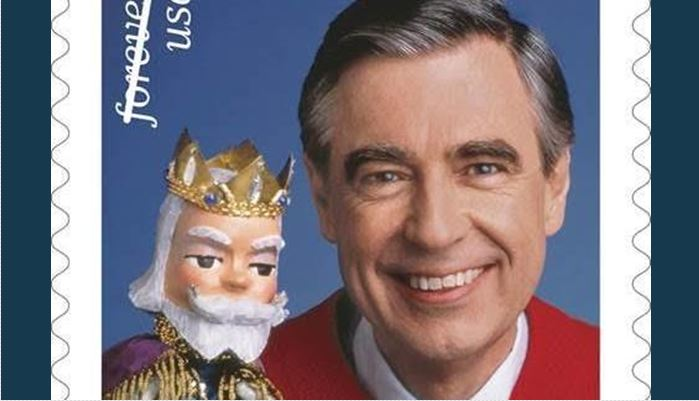 Mister Rogers stamp issued by US Postal Service