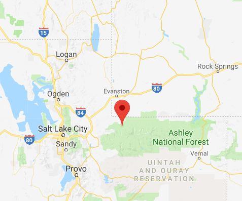 Man killed in snowmobile accident near wyoming utah border source google maps publicscrutiny Choice Image