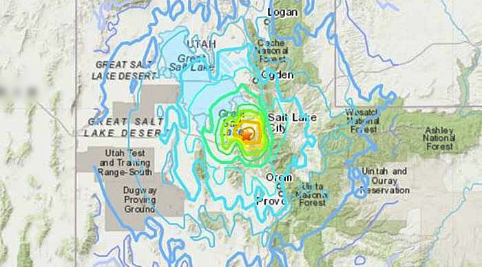 Magnitude 5.7 quake  recorded near Salt Lake City