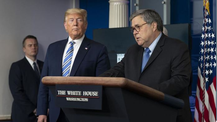 Barr says Trump signed order to prevent hoarding of medical supplies