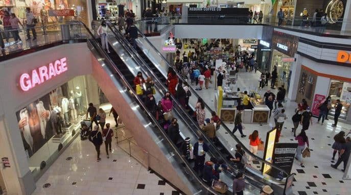 Last-minute holiday shoppers are seen at the Glendale Galleria in Glendale, Calif., on December 20, 2020. Government figures Friday said sales surpassed $540 billion in the month of December. Photo by Jim Ruymen/UPI