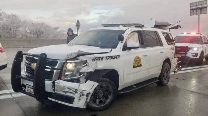 UHP vehicles hit on I-15